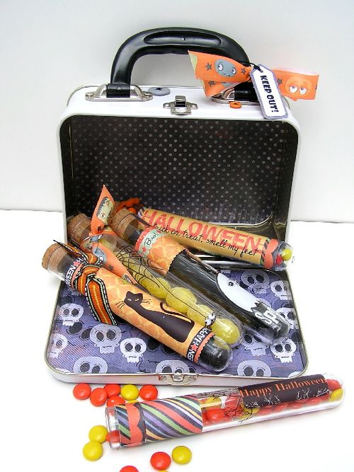 Halloween test tube and case open