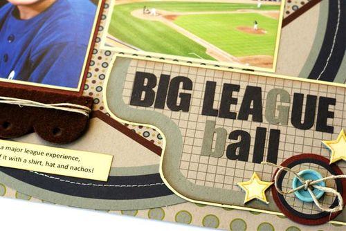 Big league ball close up