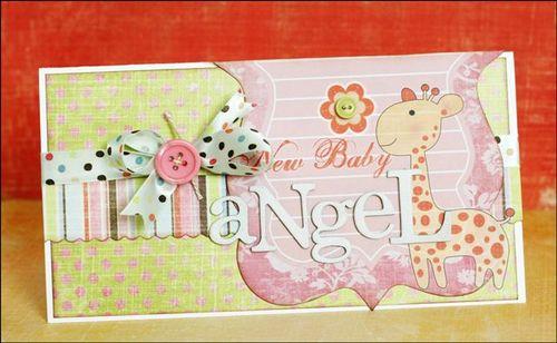 Greta New Baby card