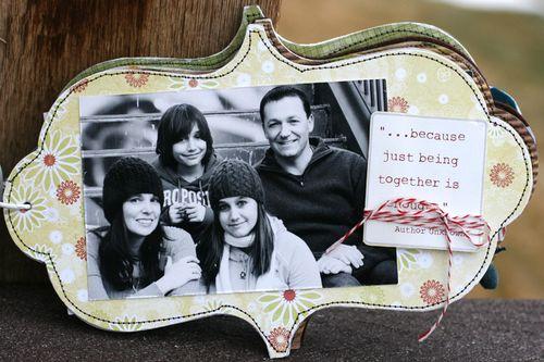 Ronda Family Mixed Media Album pg 1