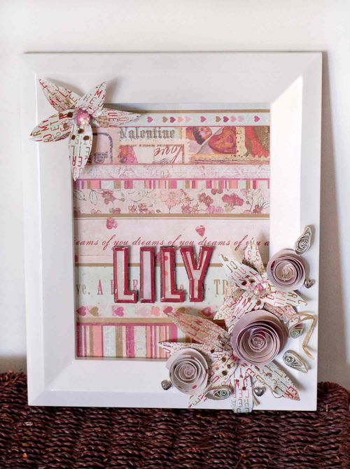 Lily-display-frame