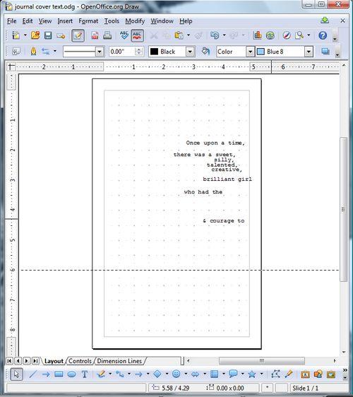 Journal text to print screen shot