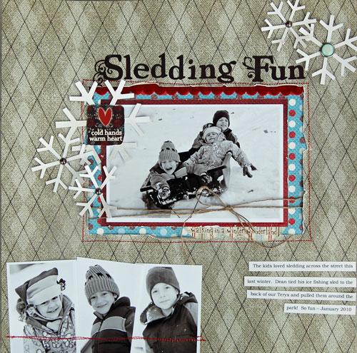 Brenda-sledding-fun