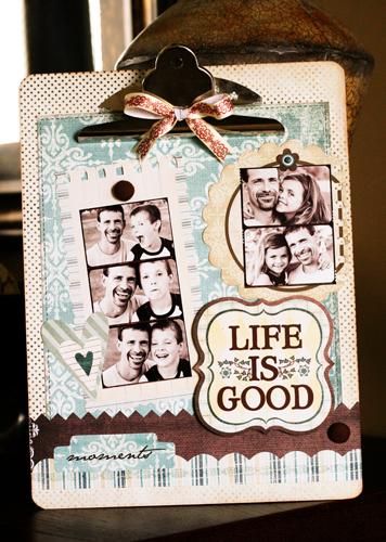 Life is Good clipboard web