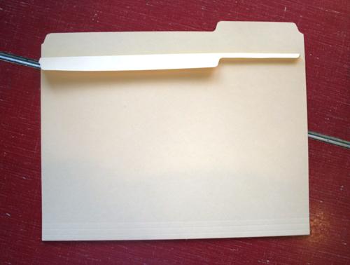 Hanging file folder  folding