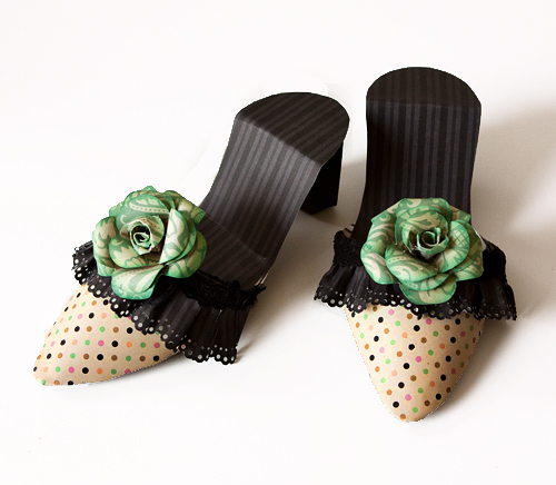Shoes Fancy Pants green rose
