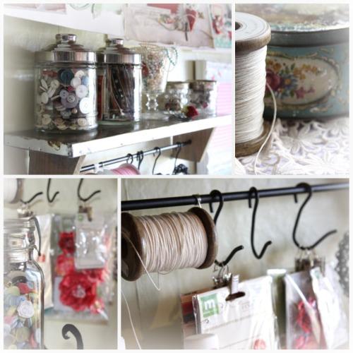 Rachel Tucker -scrapbook room storage