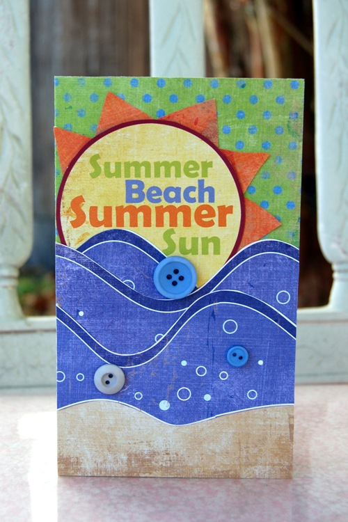 Charity Hassel-summer beach summer sun card