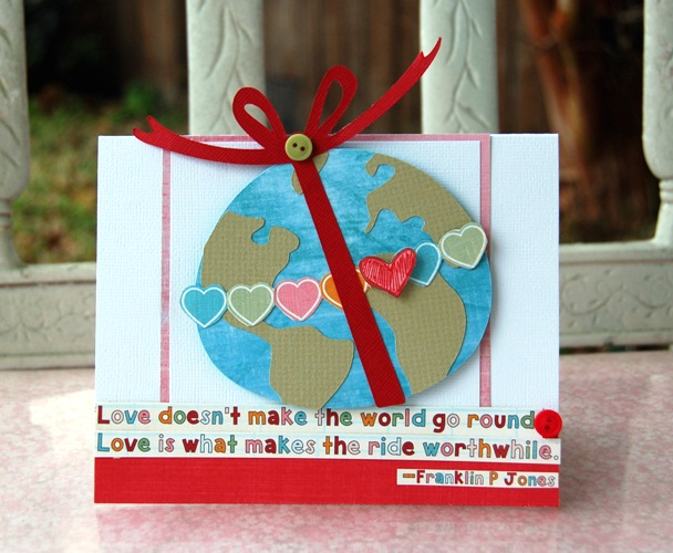 Charity Hassel-love makes the world go round card