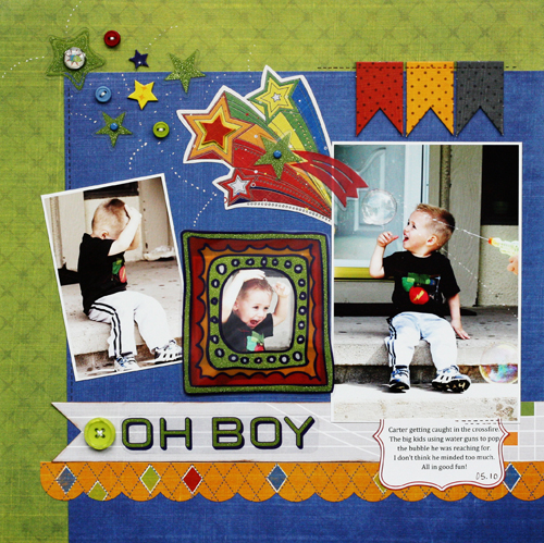 Greta Hammond oh boy layout