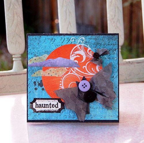 Charity-haunted bats card