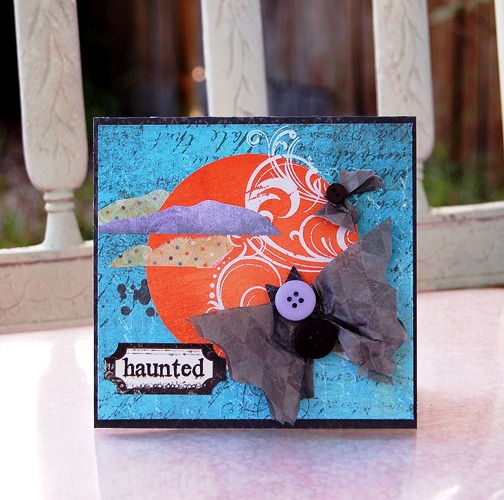 Charity-haunted bats card