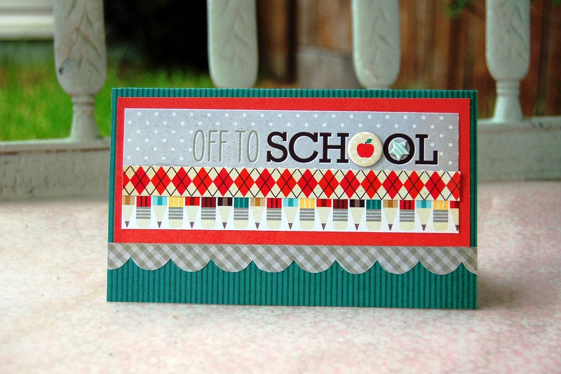 Off to School card