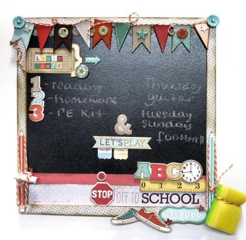 Lisa Saunders - Product Spotlight - Back to School Chalkboard