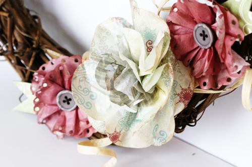 Greta Hammond St Nick filter paper wreath 2