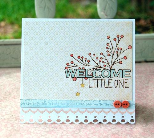 Charity-Welcome little one card