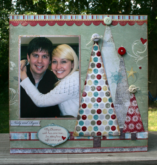 Here with you Christmas layout Vicki