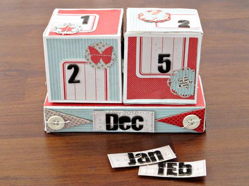 Kim Watson  Design  Papercraft Perpetual Calendar  Tutorial