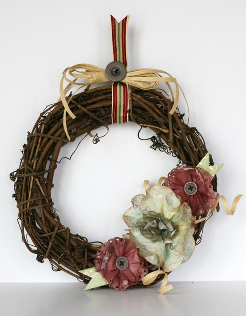 Greta Hammond St Nick filter paper wreath 1