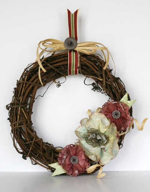 Greta Hammond St Nick filter paper wreath 1