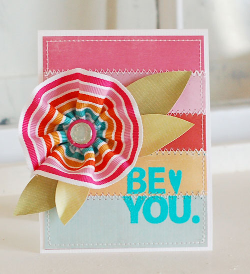 Ribbon-Flower-Be-You-Card