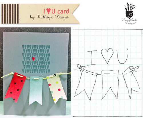 I Heart U CardandSketch