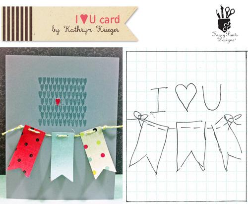 I Heart U CardandSketch