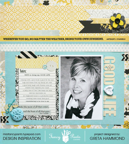 About me layout with sig border