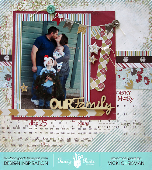 Vicki Our Family Christmas layout