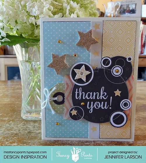Thank you card by Jennifer Larson