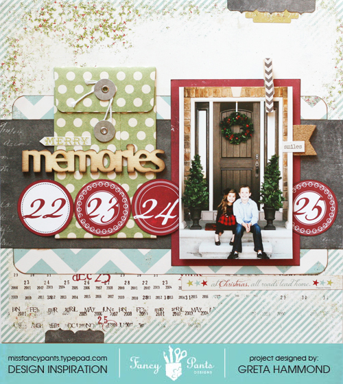Merry Memories layout with sig