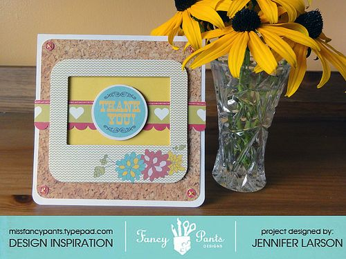 Bright thank you card by Jennifer Larson