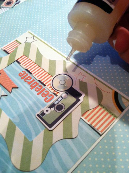 Celebrate card step 2