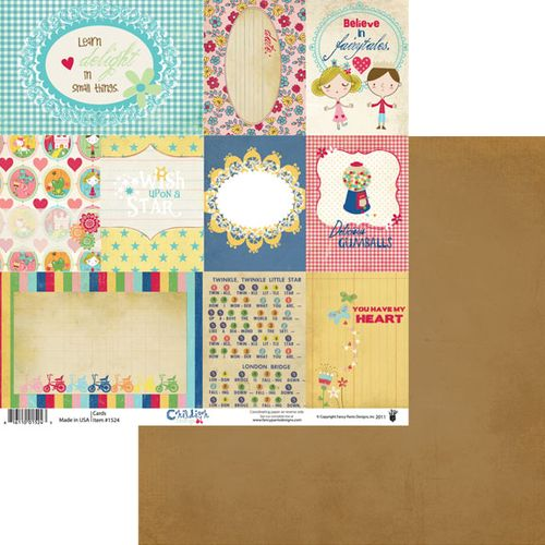 Childish Things Cards patterned paper