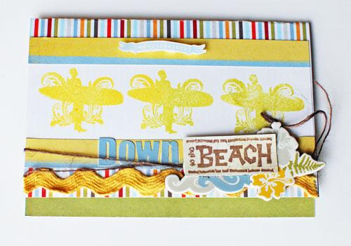 Down To The Beach card
